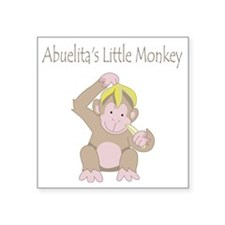 "little monkey Square Sticker 3"" x 3"""