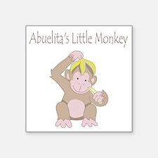 "little monkey Square Sticker 3"" x 3"""