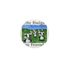 2-badger has friends Mini Button
