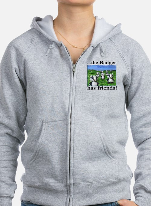 2-badger has friends Zip Hoodie
