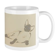 Laid Back Siamese1InsideCard Mug