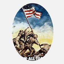 Iwo-Jima-War-Bonds Oval Ornament