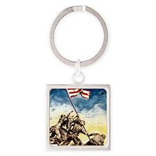 Iwo-Jima-War-Bonds Square Keychain