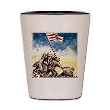 Iwo-Jima-War-Bonds Shot Glass