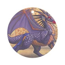 ravenwingMS Round Ornament