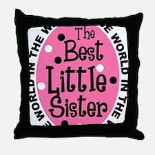 little sis all Throw Pillow