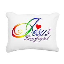 Jesusloverofmysoul2 Rectangular Canvas Pillow