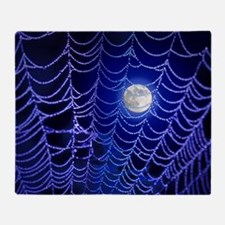 Night Web Throw Blanket