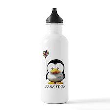 penguin pass it on Water Bottle