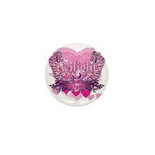 Twilight Eclipse Pink Wings Mini Button