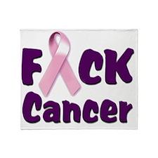 f-cancer-logo copy.gif Throw Blanket