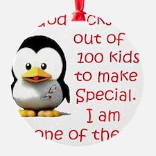 penguin 1 in 100 Ornament