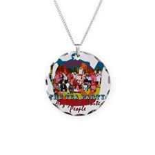 2-Old Angry Whites shirt Necklace Circle Charm