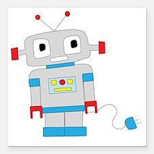 "cuterobot Square Car Magnet 3"" x 3"""