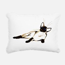 Laid Back Siamese 4000 T Rectangular Canvas Pillow
