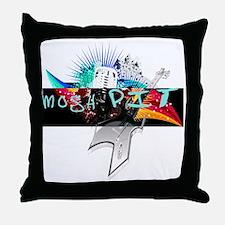 mosh pit Throw Pillow