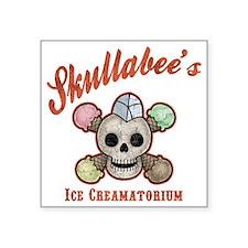 """ice-creamatorium-T Square Sticker 3"""" x 3"""""""
