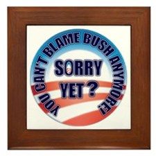 sorry_yet_button2 Framed Tile