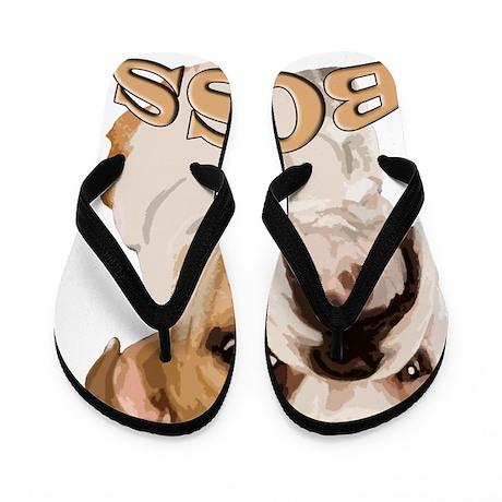 English_bulldog_BOSS Flip Flops