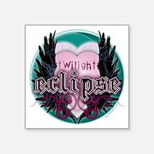 "Twilight Eclipse Heart Wing Square Sticker 3"" x 3"""