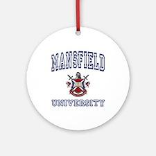MANSFIELD University Ornament (Round)