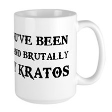 kratos sticker copy Mug