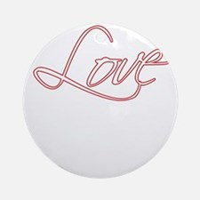 love_full_trans Round Ornament