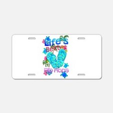 Life Is Better In Flip Flops Aluminum License Plat