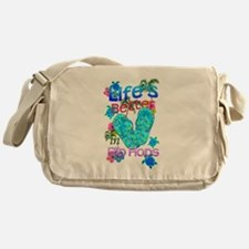 Life Is Better In Flip Flops Messenger Bag