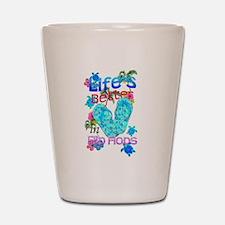 Life Is Better In Flip Flops Shot Glass