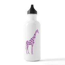 Purple Giraffe Water Bottle
