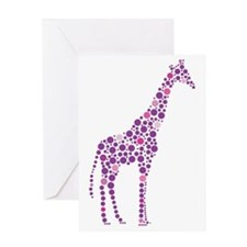 Purple Giraffe Greeting Card
