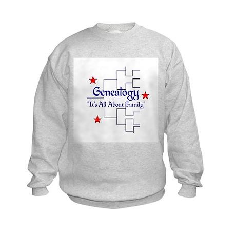 Family Tree Chart Kids Sweatshirt