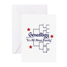 Family Tree Chart Greeting Cards (Pk of 10)