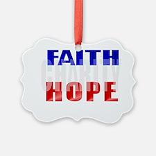FAITH HOPE CHARITY Trans Ornament