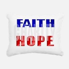 FAITH HOPE CHARITY Trans Rectangular Canvas Pillow