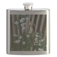Flowers on Wood Flask