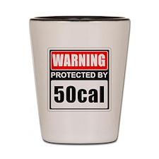 Warning 50cal Shot Glass