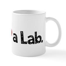 Love a Lab-black-wide Mug