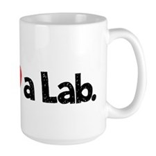 Love a Lab-black-wide Mug