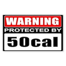 Warning 50cal Decal