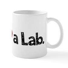 Love a Lab-choc-wide Small Mugs