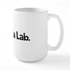Love a Lab-choc-wide Mug