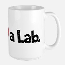 Love a Lab-yellow-wide Large Mug