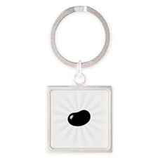 big_jelly_bean07 Square Keychain