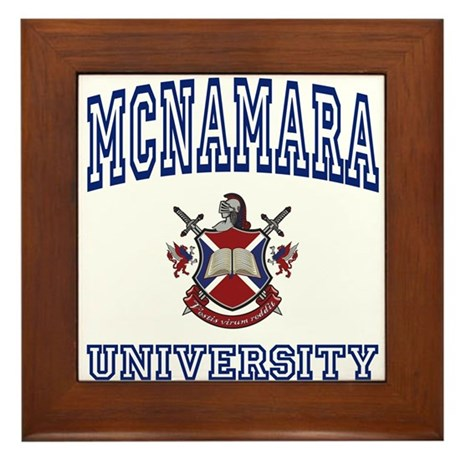 MCNAMARA University Framed Tile
