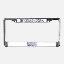 MCNAMARA University License Plate Frame