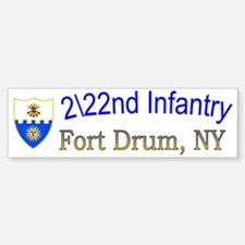 2-2nd Bn 22nd  inf cap 1 Car Car Sticker