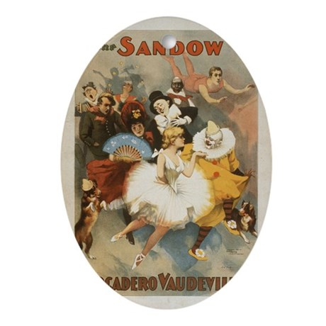 Sandow circus Oval Ornament