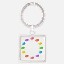12_jelly_beans01circle Square Keychain